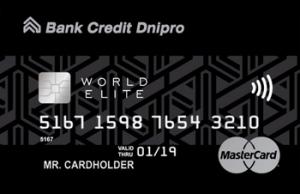 Кредитна картка ELITE PRIVATE MasterCard - від Банк Кредит Дніпро