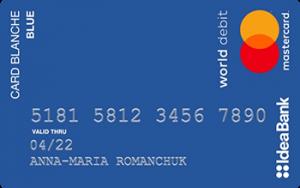 Кредитна картка Card Blanche Blue MasterCard - від Ідея Банк