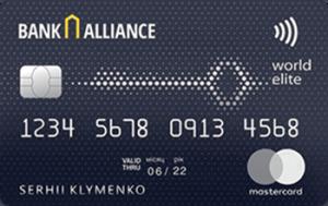 Платёжная карта ELITЕ MasterCard - от Альянс