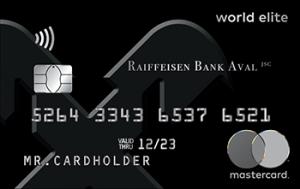 Платіжна картка Exclusive MasterCard - від Райффайзен Банк Аваль