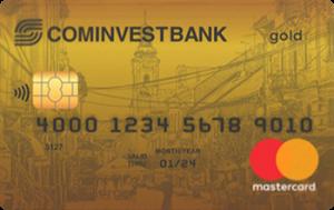 Платёжная карта Частная Gold MasterCard - от Коминвестбанк