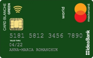 Платёжная карта Card Blanche Green Social MasterCard - от Идея Банк