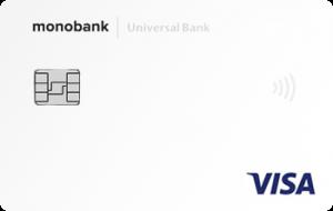 Платёжная карта Белая Visa - от Монобанк