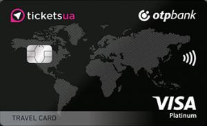 Платіжна картка Tickets Travel Card Visa - від ОТП Банк