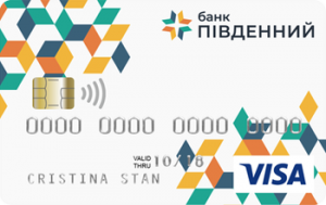Платіжна картка Пенсійно-соціальна стартова Visa - від Південний